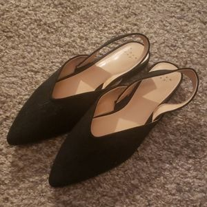 Pointed Toe Flats Black